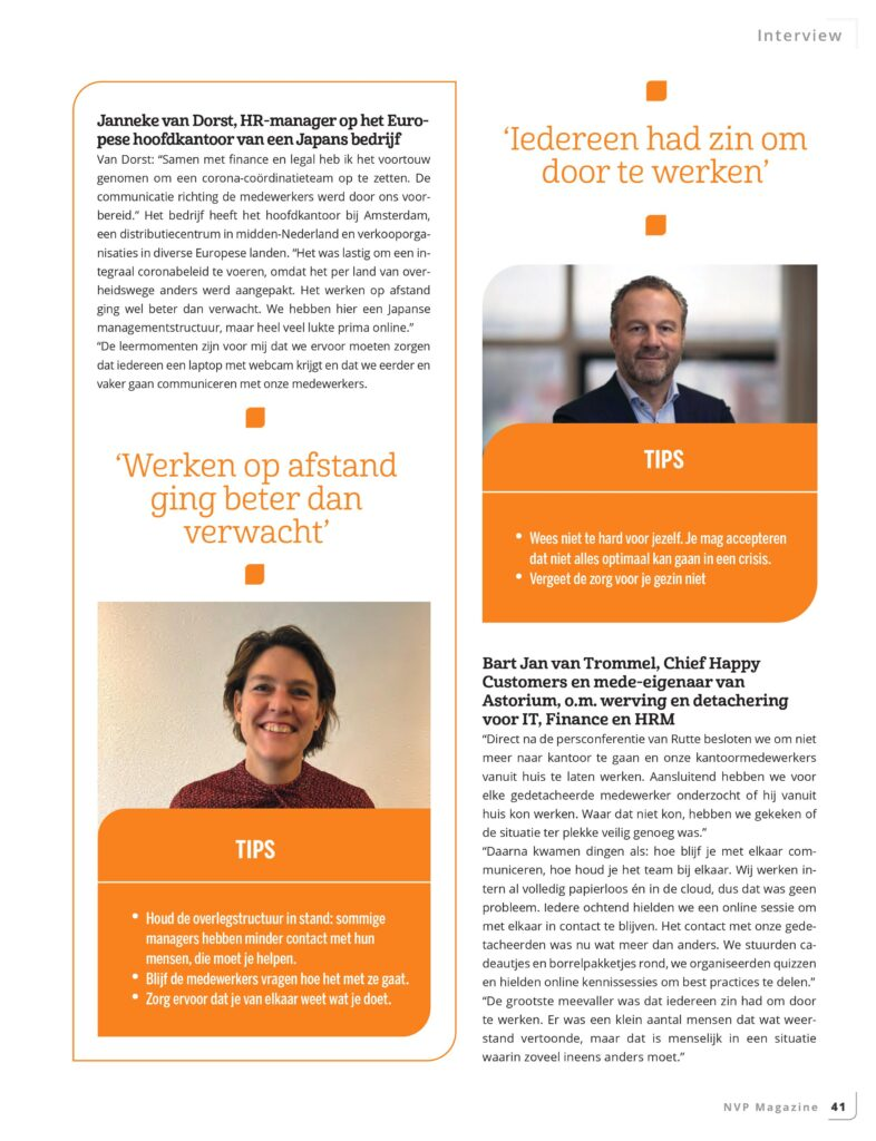 NVP Magazine met interview Bart Jan van Trommel Astorium
